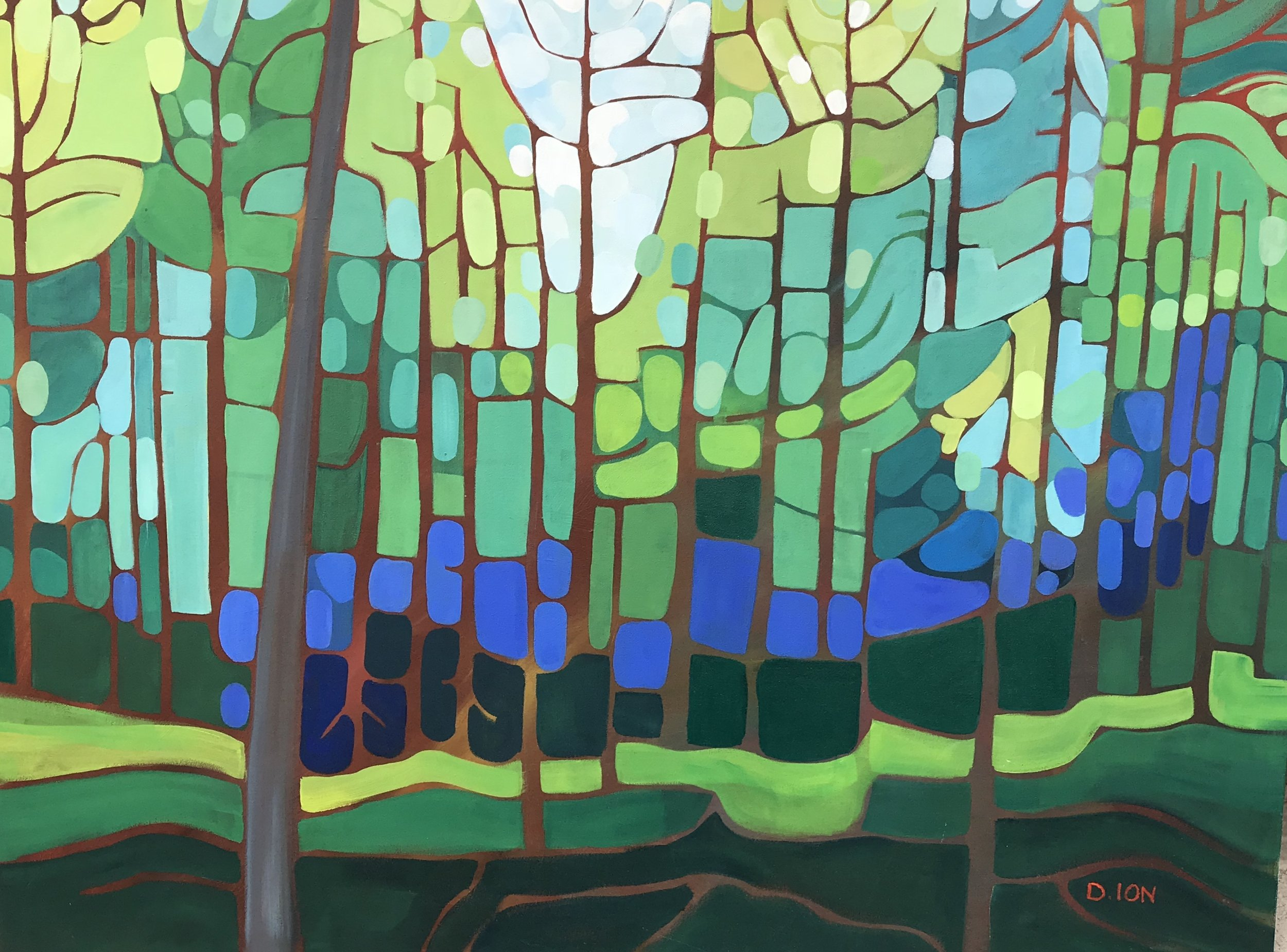 Emily's Forest 3 30x40 in.