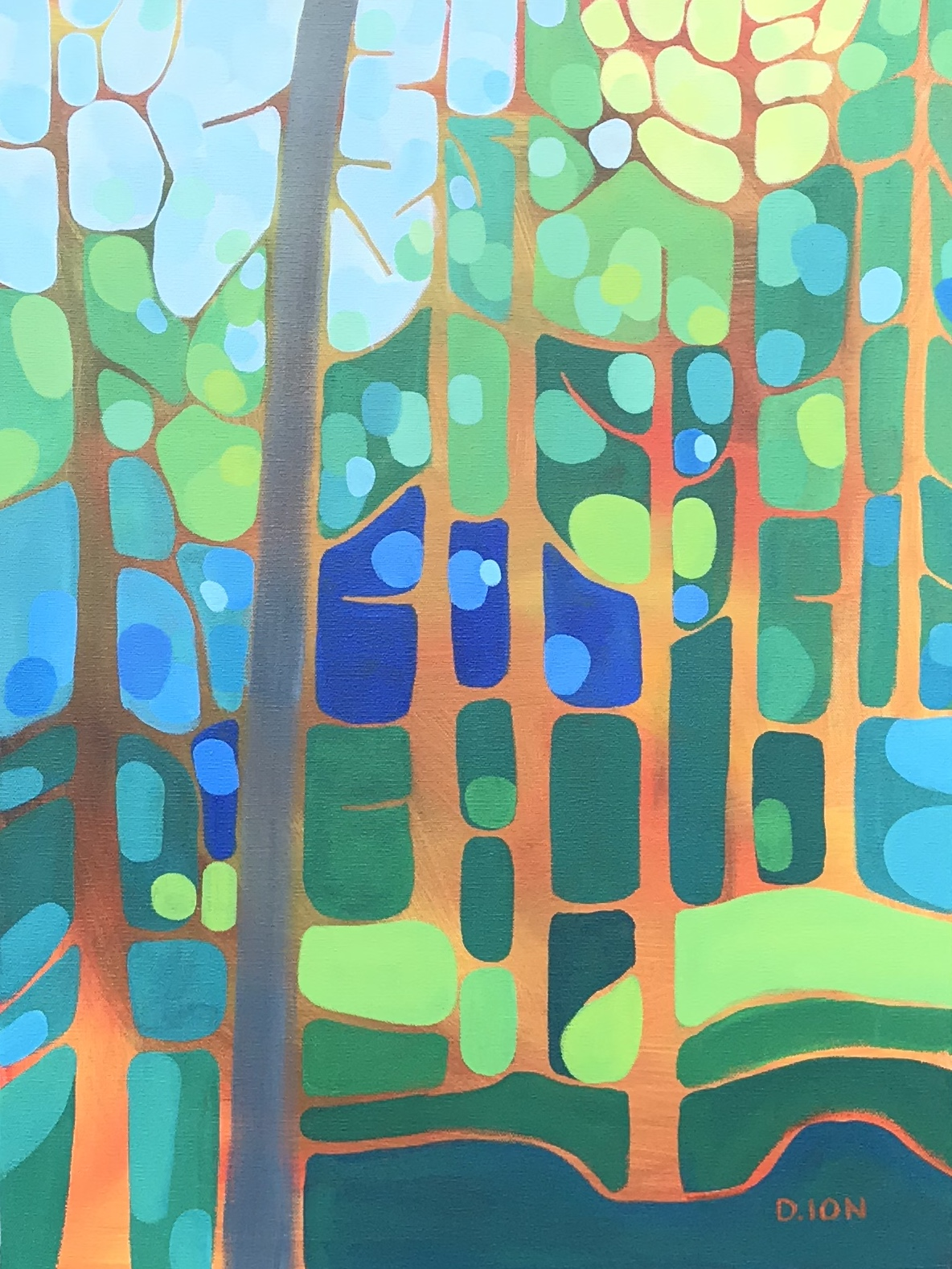 The Edge of the Forest 1 18x24 in.
