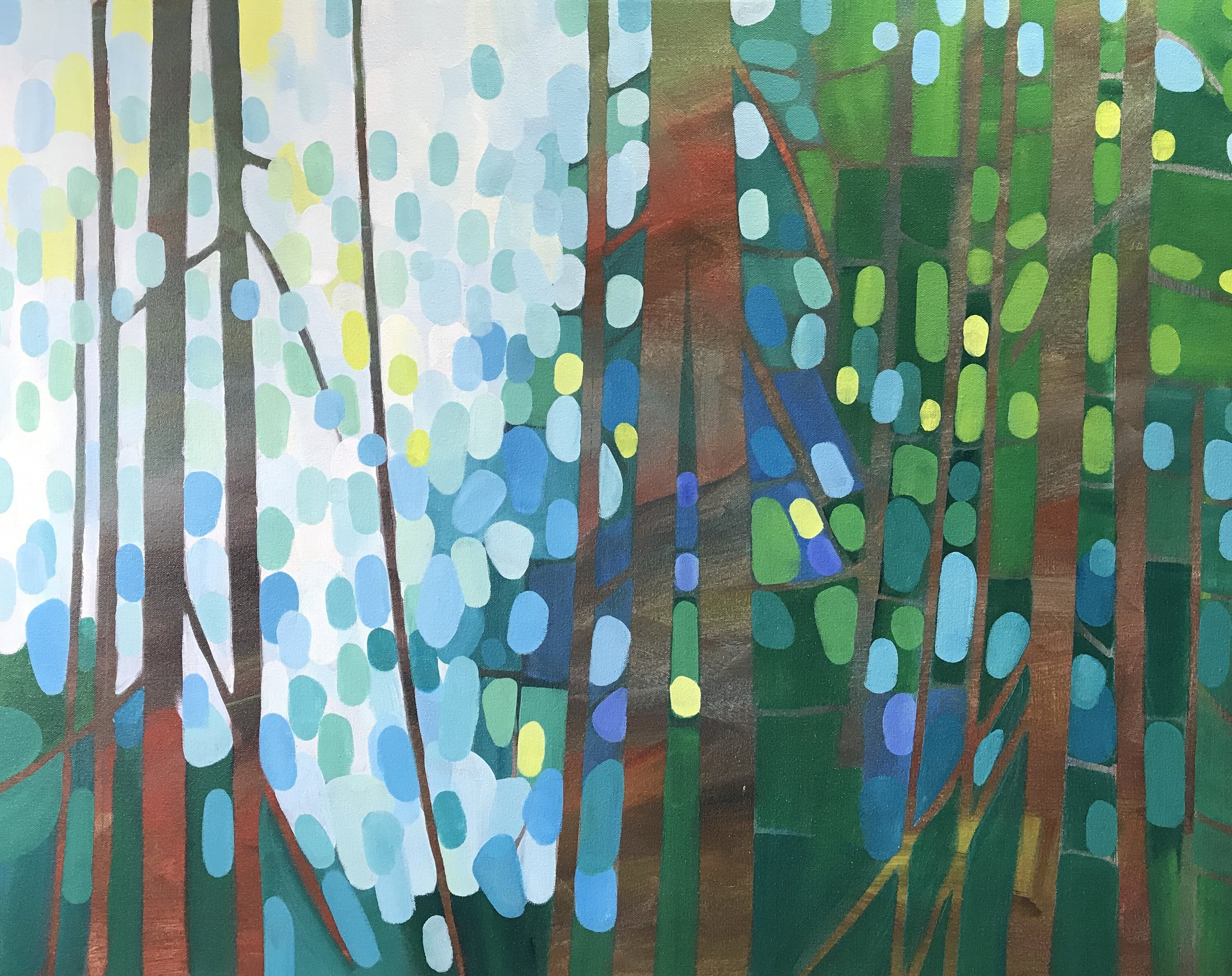 Forest Morning #3 24x30 in.