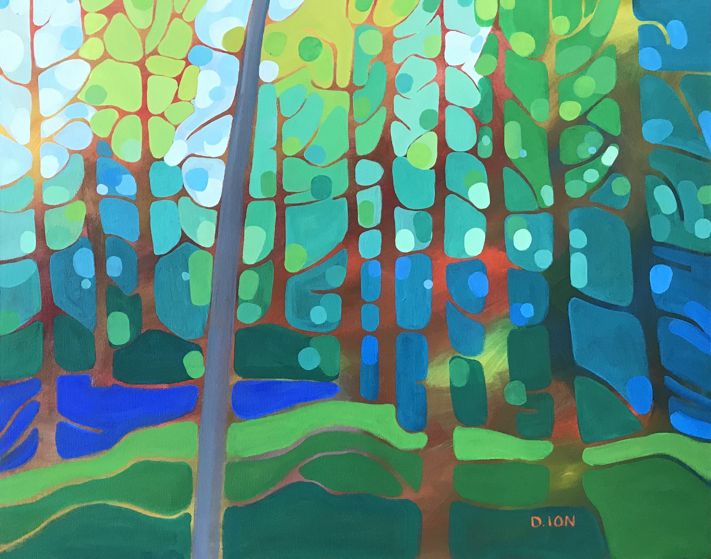 Edge of the Forest 2 24x30 in.