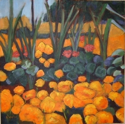 Marigolds 30x30 in.