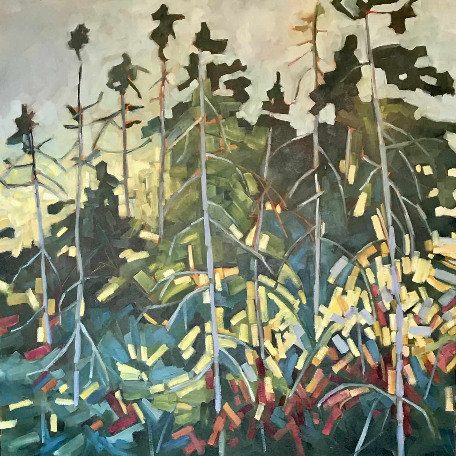 The Lively Forest 36x36
