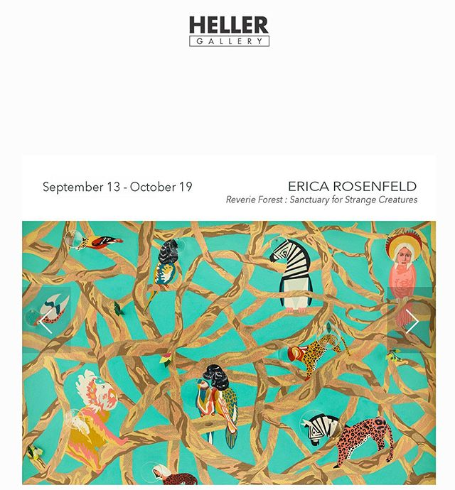 """Looking forward to my new show date @hellergallery """"Reverie Forest: Sanctuary for Strange Creatures"""" opens on Sept 12th."""