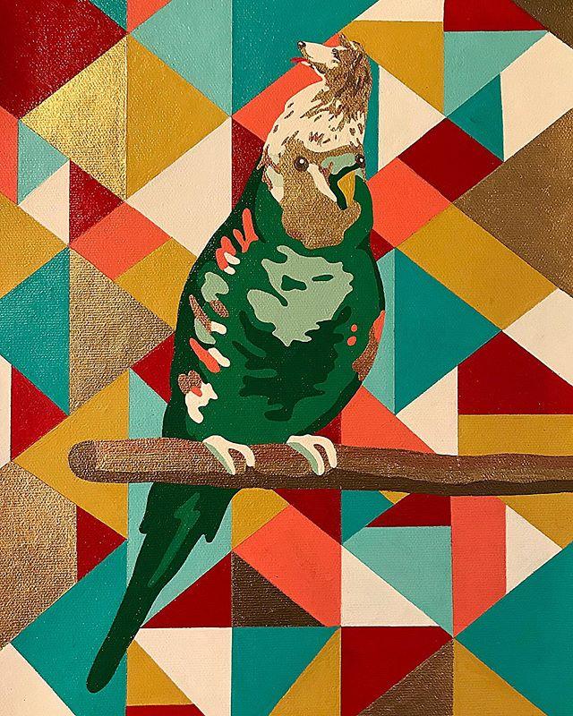 #workinprogress #dogbird #reverieforest #sanctuary for #strangecreatures for September show @hellergallery