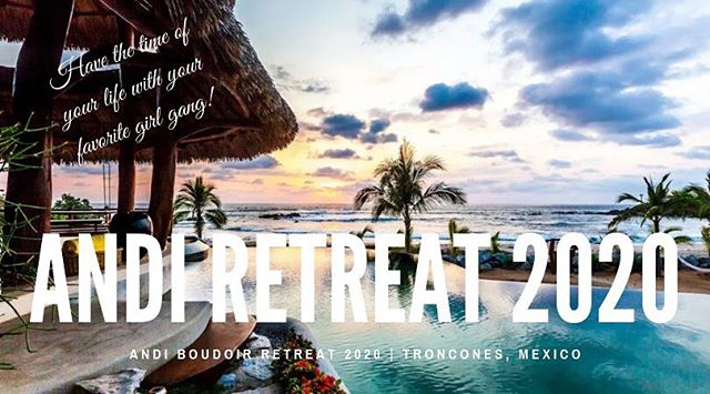 It's HERE!  I CANNOT wait to melt our cares away in the incredible beauty of Troncones, Mexico!!! Are you coming with me?! www.andiboudoir.com/andiretreat