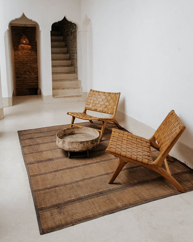 An inviting space to relax. Second floor common area, shot for @riad42marrakech