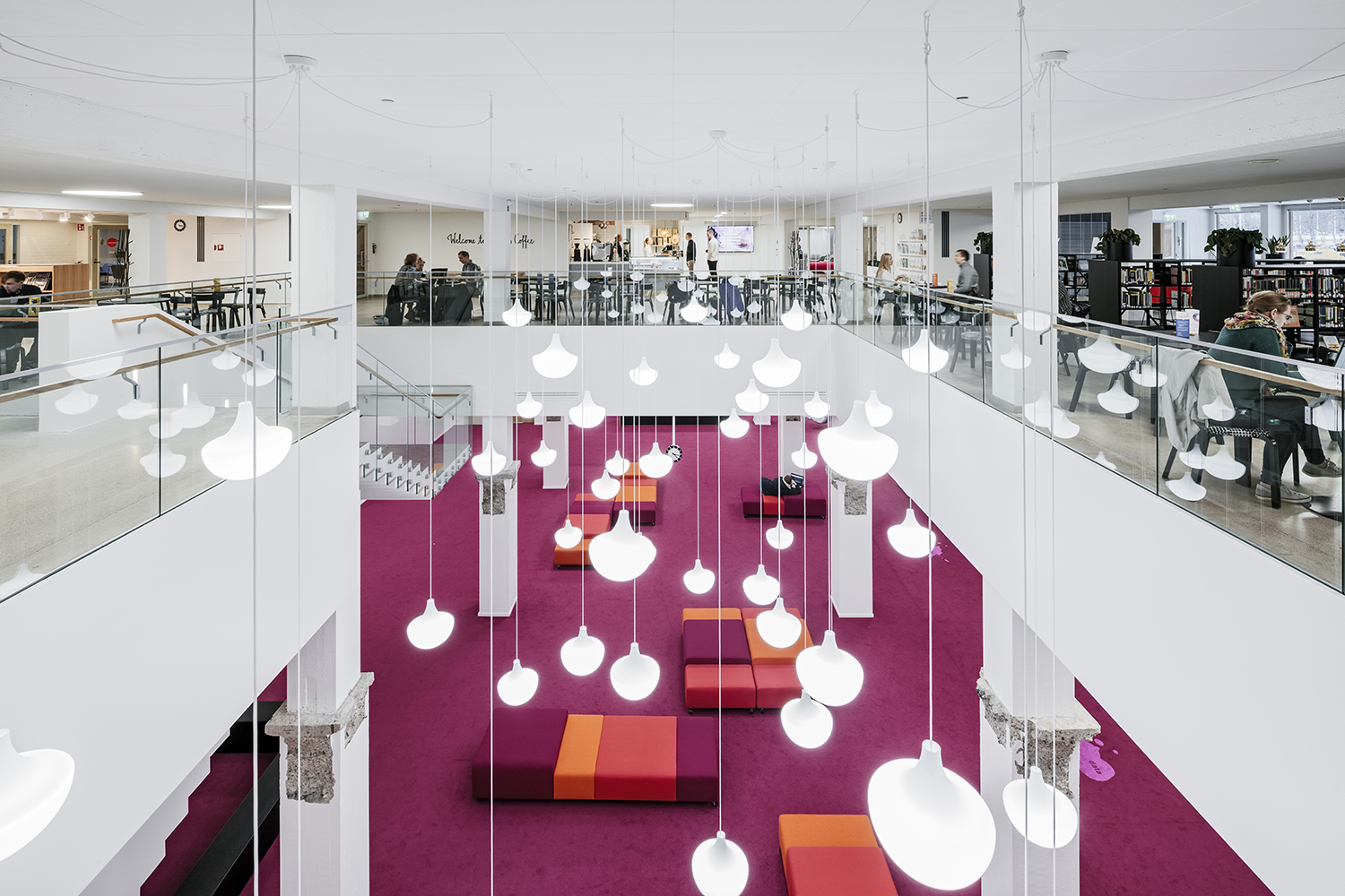 Otaniemi is the base for Aalto's six schools - With plenty of creative work space for students all around the campus!