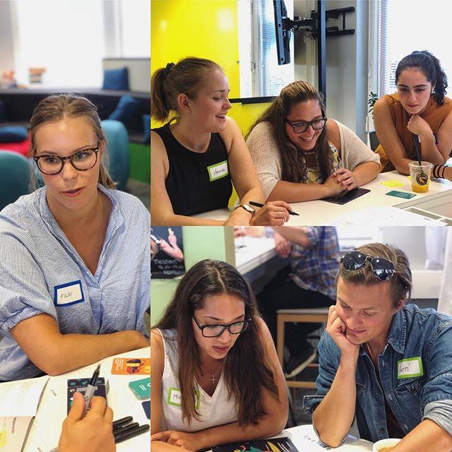 Students working hard on #intelligentaugmentation at @futurice 🤖👊🏼