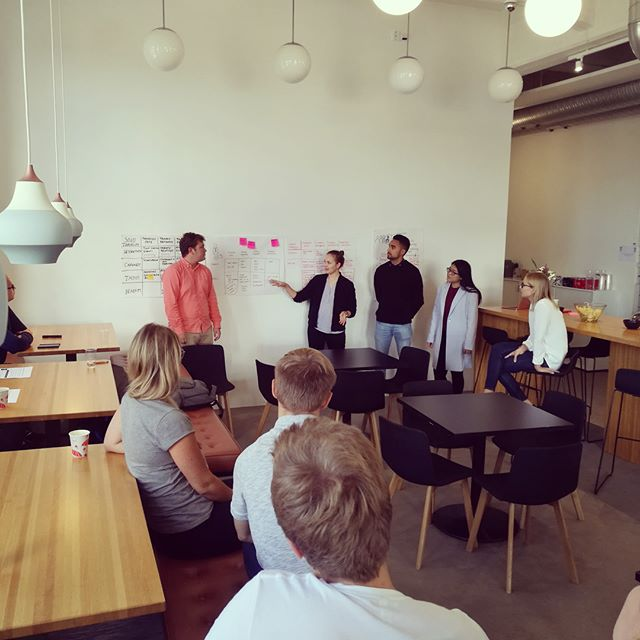 ITP students workshopping at Avaus. Big thanks for the cool insights on digital transformation in marketing!  #aaltoitp #aalto #madeinaalto #avausmarketing #Avaus