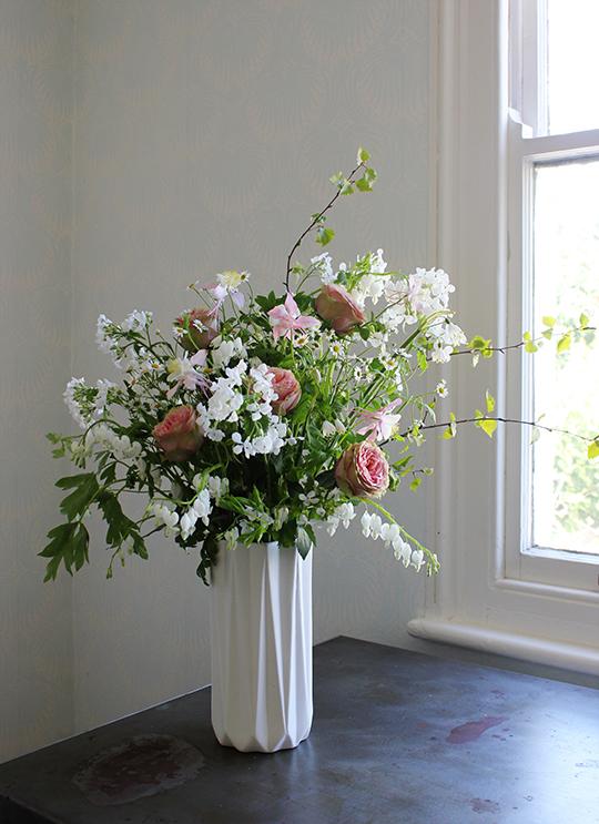 a quiet style vase arrangement