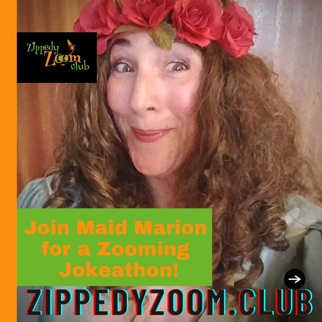 ✨Maid Marion is our host on the ZippedyZoom.Club this week, and what a FUNNY host she is 🤣 prepare for a giggleathon with Maid Marion's Zooming Jokeathon! 😆  #theatrekids #theatrelife #kidsofinstgram #online #theatre #onlinetheatre #lockdown #activities #jokes #funny