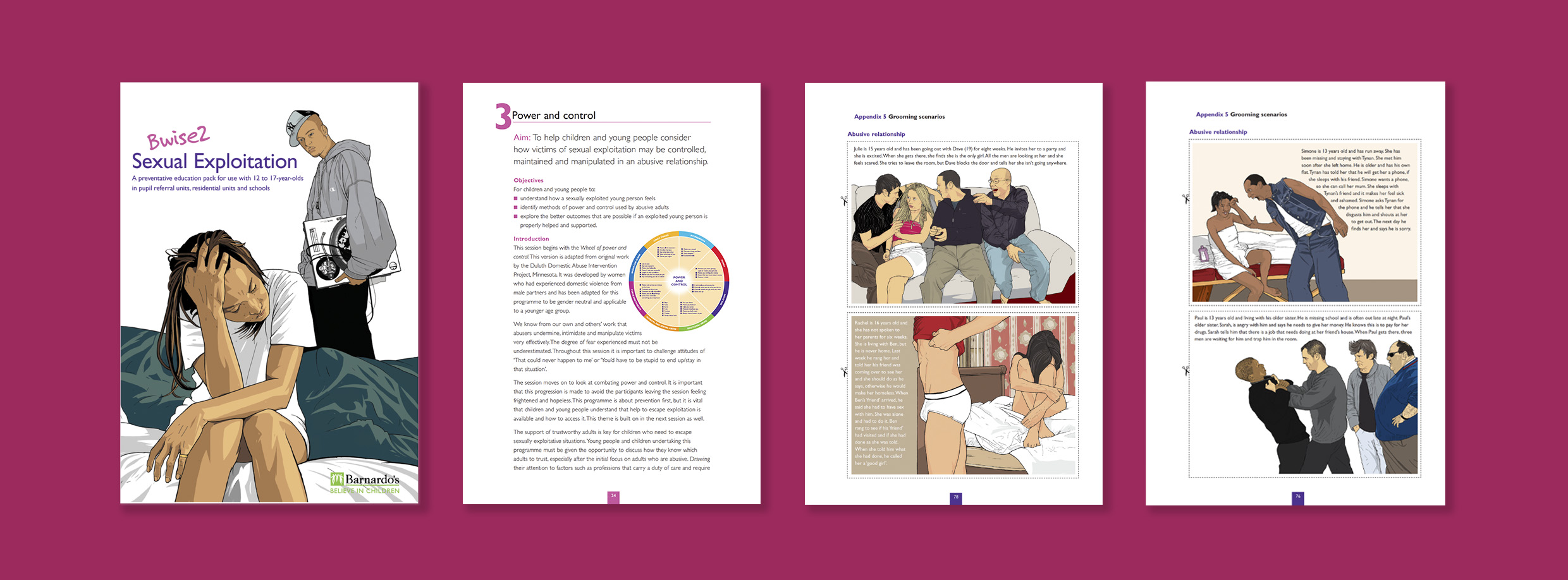 Barnardo's' Preventative Education Pack provides explicit guidelines for care workers working with 12 to 17 year-olds.