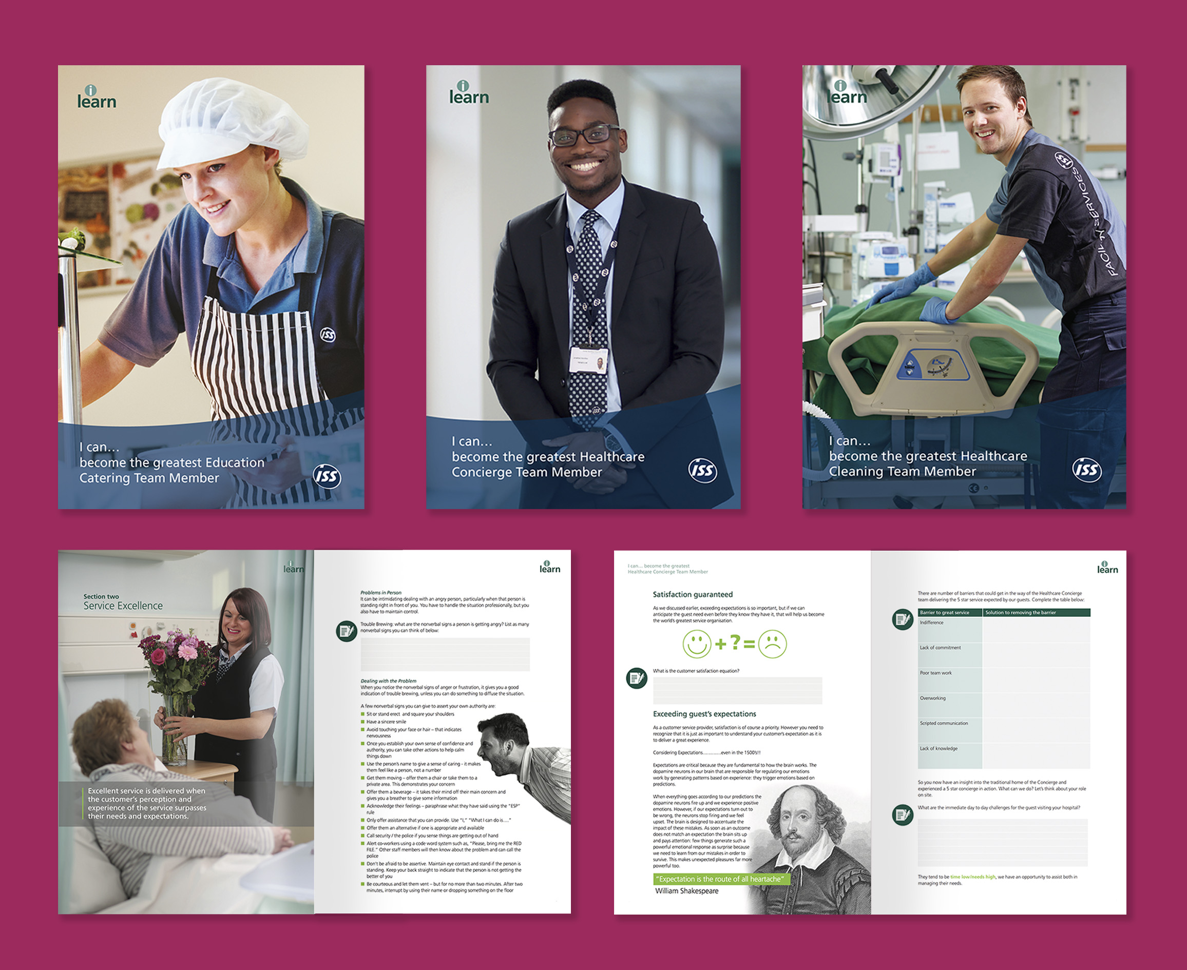 Though still in keeping with ISS's brand guidelines, workbooks had to be clean, concise and above all, engaging.