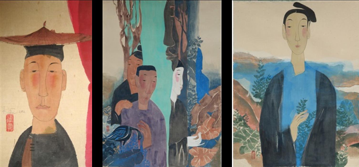 Raquelle Azran Vietnamese Contemporary Fine Art- Artist: Vu Thu Hiem-  Minority Male (2002), Heartbeats of Nature (2018) , Serenity of Clouds (2018)
