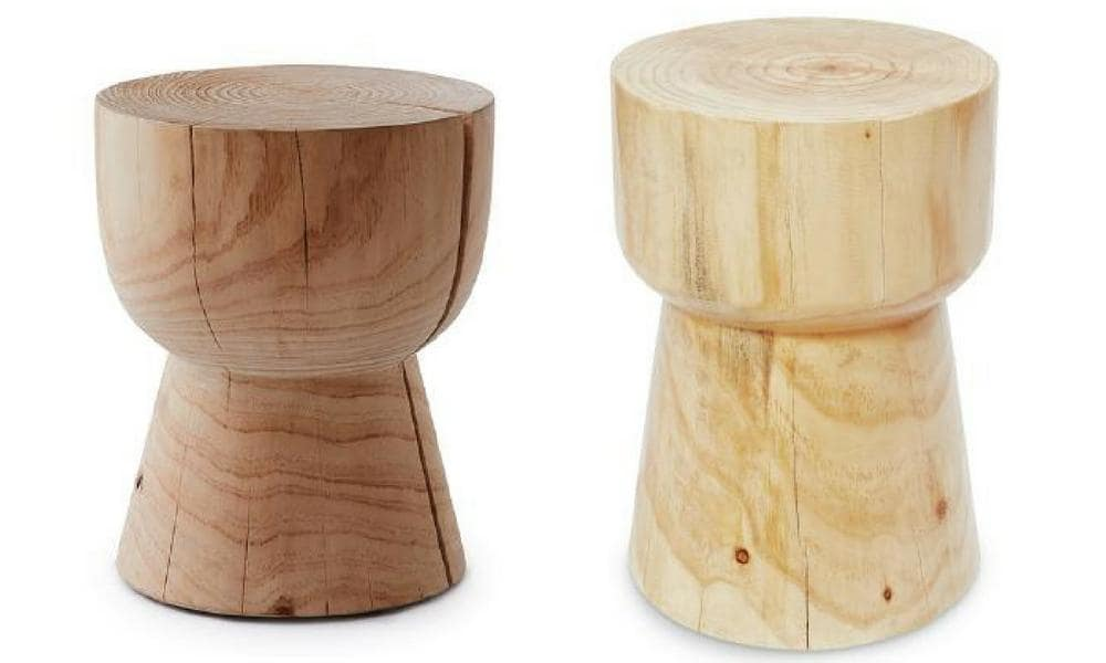 Egg Cup Stool by Mark Tucky - $550 (left), Aldi - $69 (right)
