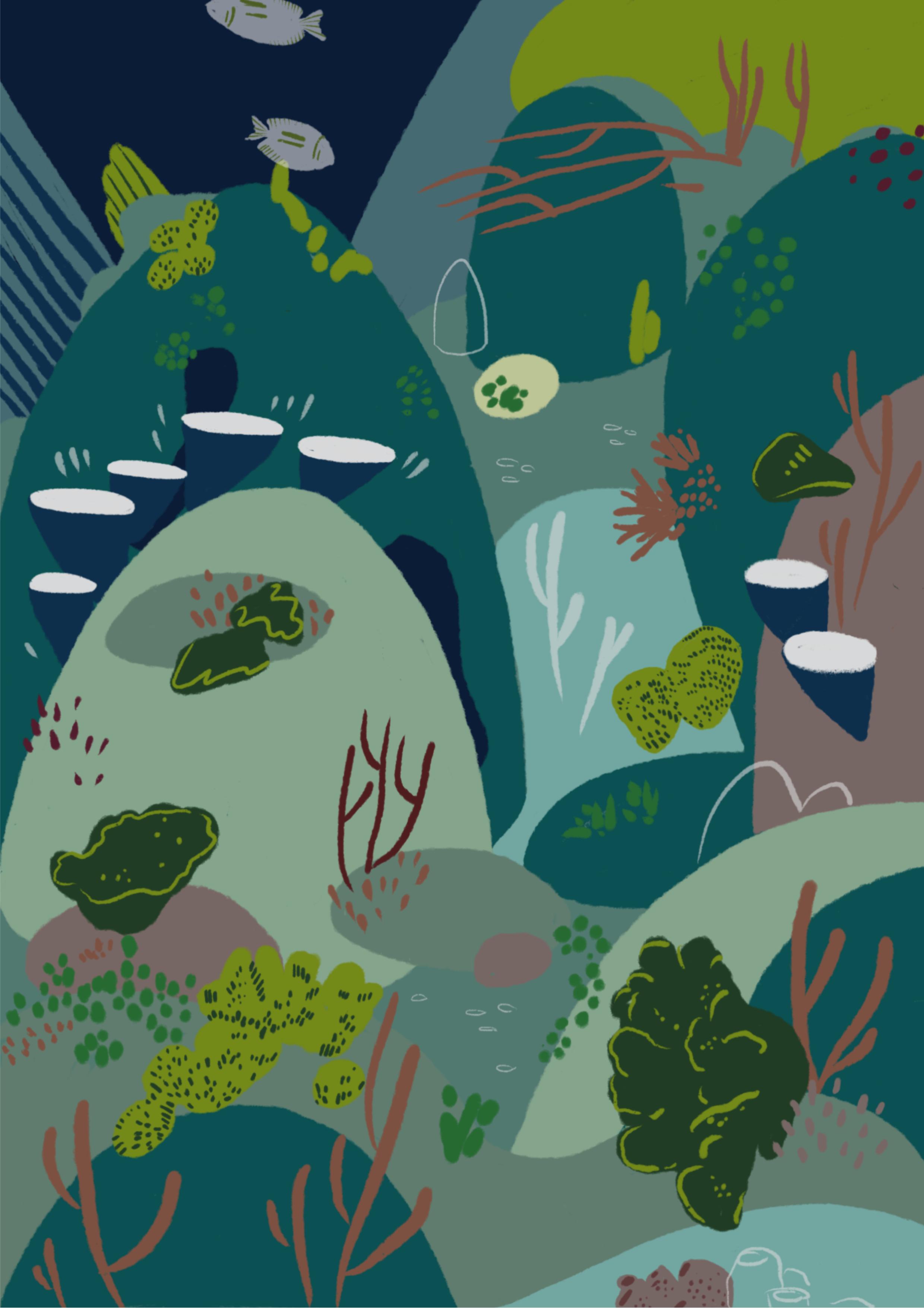 Aquarium (2018)   Digital Illustration