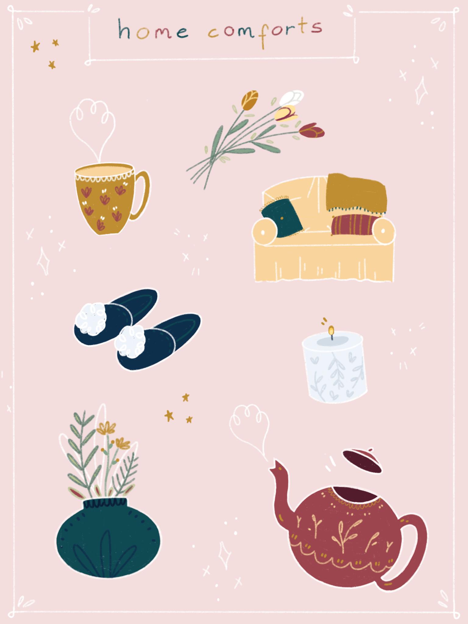 Home Comforts Part 2. Digital Illustration (2019)