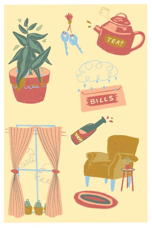 Home Comforts Part 1. Digital Illustration (2018)