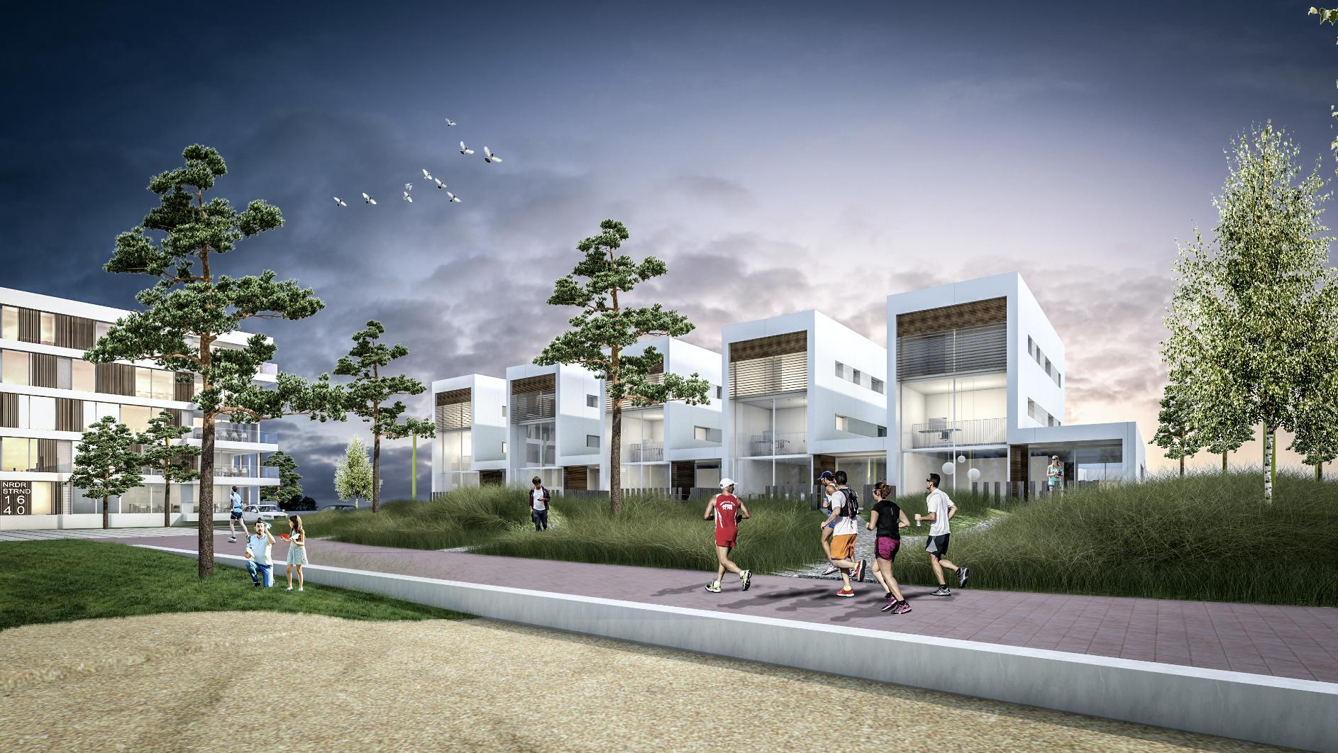 Impressie Strandhuizen en Het Paviljoen Strand Noord Nesselande