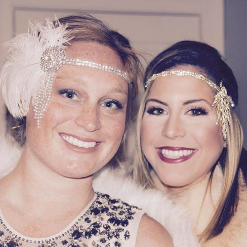 Gatsby Gals - Gemma and her friend were headed to a Great Gatsby party and wanted to arrive with a splash. With the right balance of eyes, brows, and lips, we got them a look that would make Daisy Fay Buchanan proud!