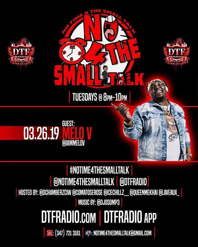 """Tomorrow night i will be LIVE ‼️‼️ on @dtfradio for @notime4thesmalltalk ‼️‼️ download that #DTFRadio app and tune in as he debuts my hit single """"Bad Girls Only """" on internet radio for the first time  HOSTED BY : @dchamberzciw, @comatoserose, @icechillz__ , @queenmekhai & @laveauxofficial ‼️‼️ @djosomp3 on the 1's & 2's ‼️‼️‼️tune in from 8 to 10 PM #MELoV #MELoMovement #Jersey #BadGirlsOnly #DTFRadio #NoTime4TheSmallTalk #Brooklyn #EastWick #TalentOverViews"""