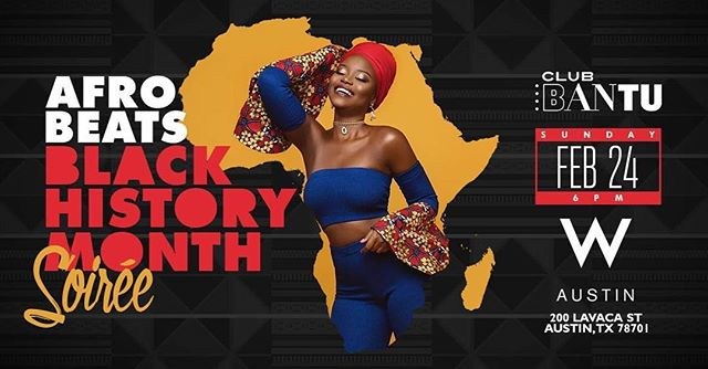 TONIGHT!!! Come celebrate #blackhistorymonth with @club.bantu AND @pondibeat 🙌🏾🙌🏾😁😁. We will be rolling through with @ebinje later tonight! It is his last night in Austin and it's going to be 🔥🔥🔥. If you've been to our #Austin and #RoundRock classes please come through!! You'll hear some familiar songs and get a chance to show off all the new moves you learned at this Free event! Oh and there is food too! 😋  See you tonight!
