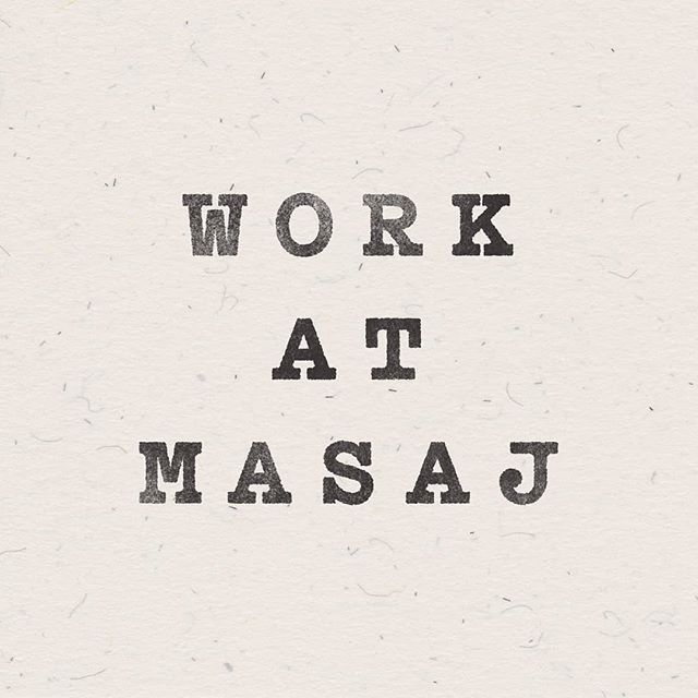 We're on the lookout for a new Studio Manager to join the MASAJ team! Must be keen and able to work flexible part-time hours at our studios in east London. Email hello@masaj.me with a CV & covering letter if you're keen to be part of a fun, caring & diverse bunch of people who are dedicated to making our clients feel good. Interviews are taking place from next week onwards, so get those applications in quick!📝