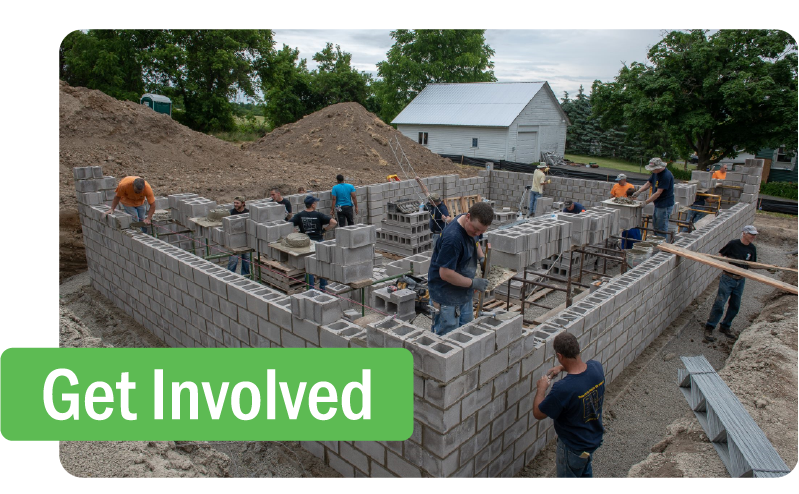 Volunteers are the heart and backbone of Livingston County Habitat for  Humanity. Year after year, they dedicate countless hours to ensure families  have safe, affordable, and decent homes of their own.  We couldn't do any of this without them!