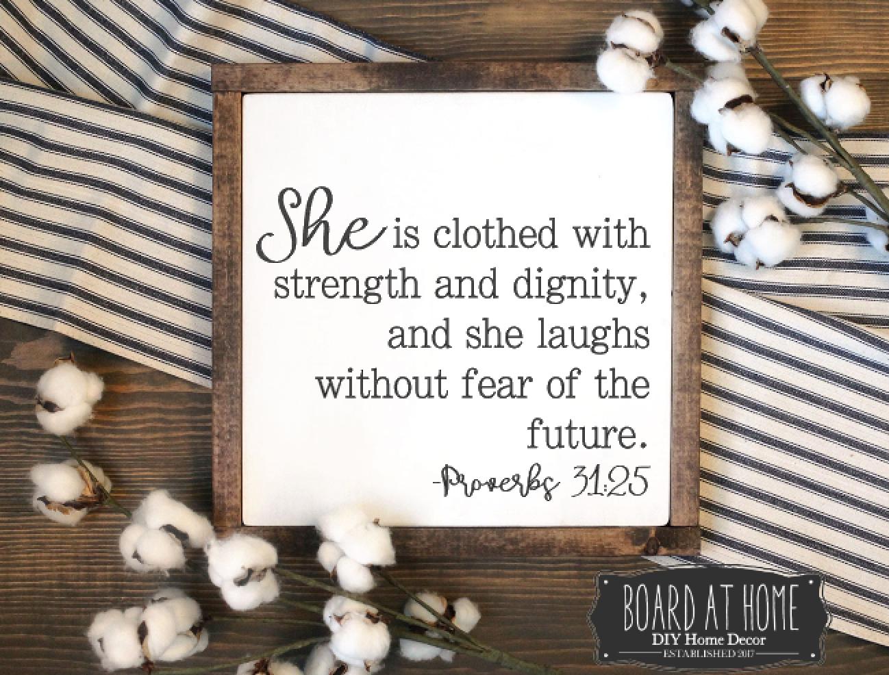 122- Proverbs 31:25