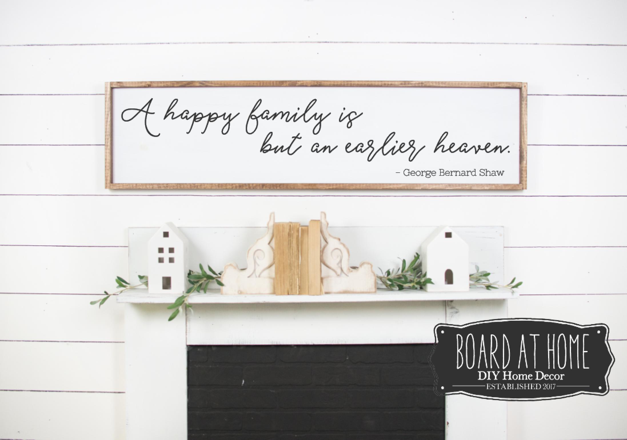 406- Happy Family 4' sign