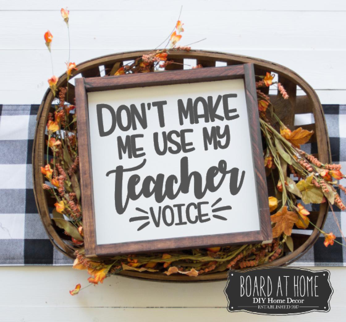 137- Teacher Voice