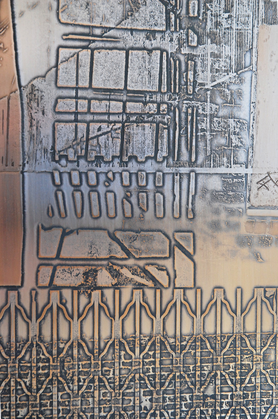 Architectural metal wall piece by Rebecca Gouldson Metal Art www.rebeccagouldson.co.uk