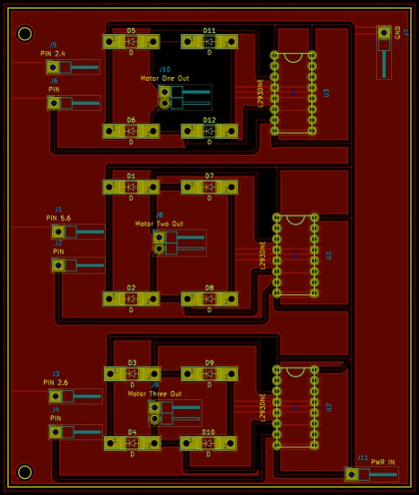 CustoM PCB DESIGN FOR RHEX ROBOT -
