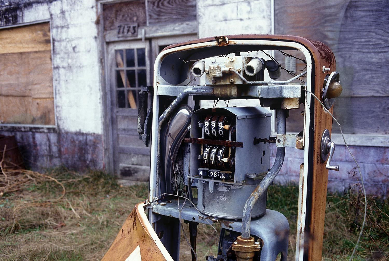 Decrepit gas pump