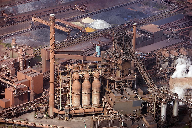 Blast of Hot Air. Steel Mill
