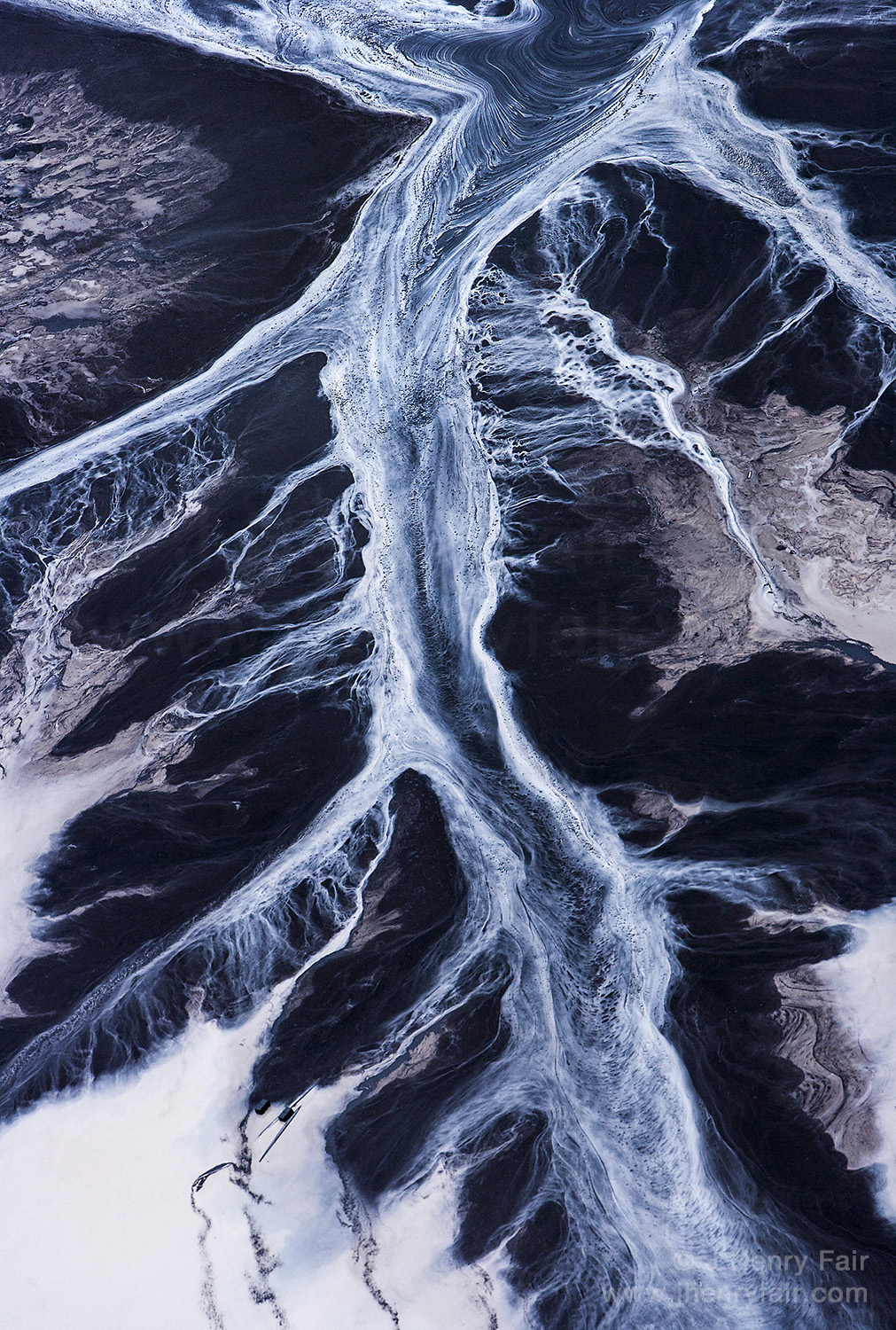 Coal Slurry- Detritus Of Water And Chemicals After Coal Is Washed