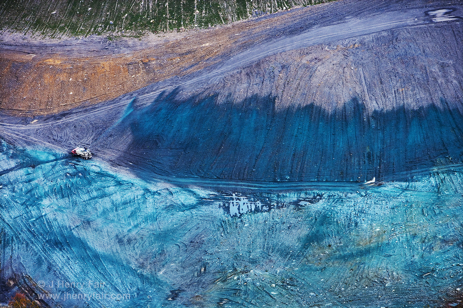 """Cover-up. Grass Planting At """"Mountaintop Removal"""" Coal Mining Site"""