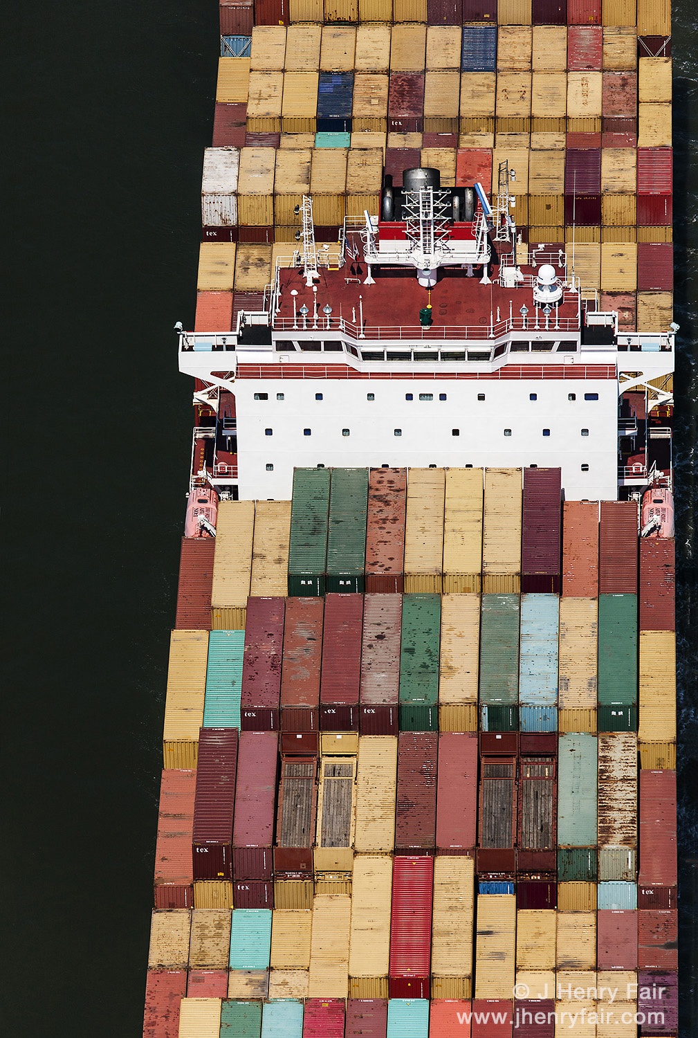 To Market- Container Ship Leaving New York Harbor