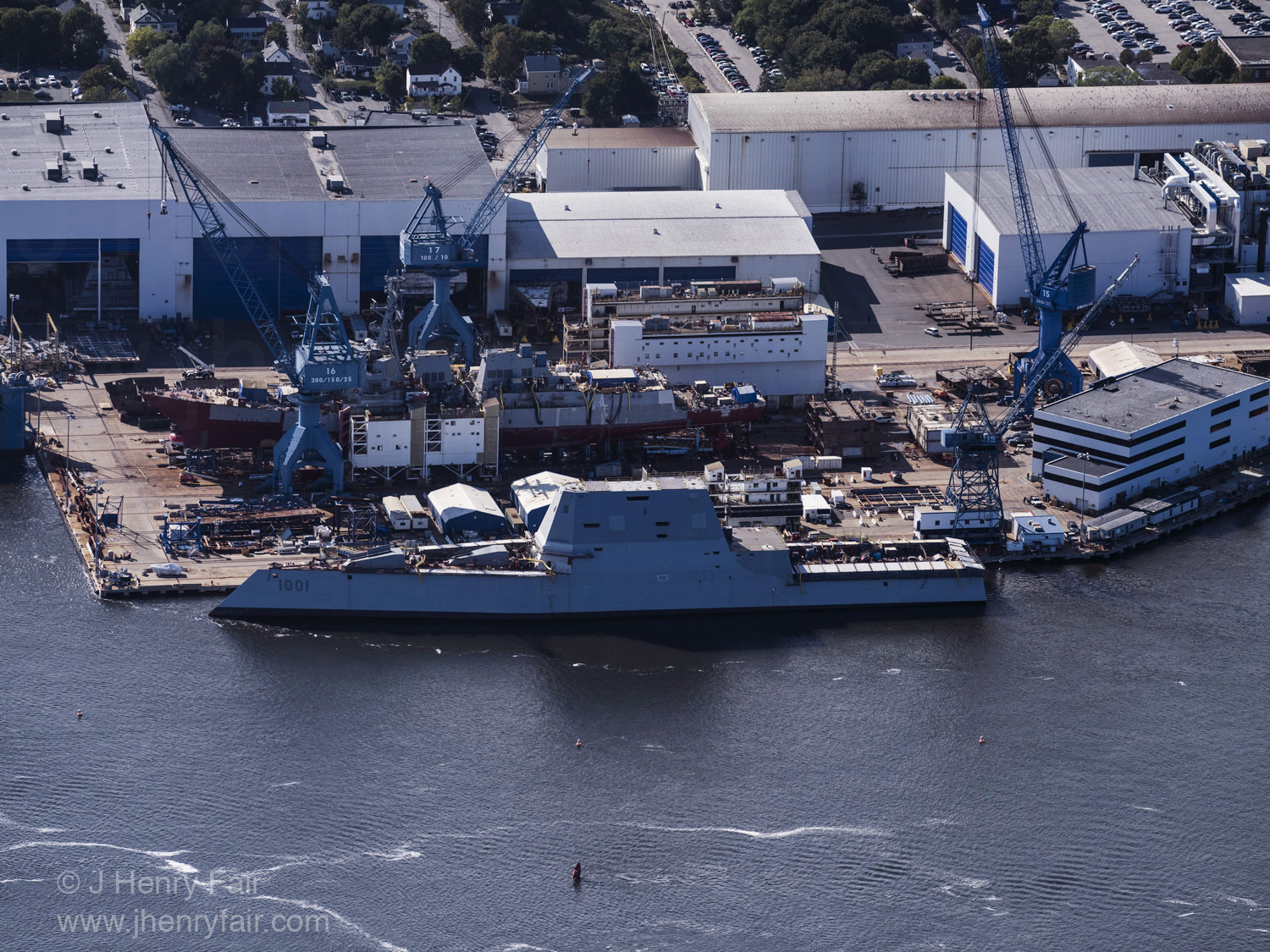 Stealth class frigate at dock