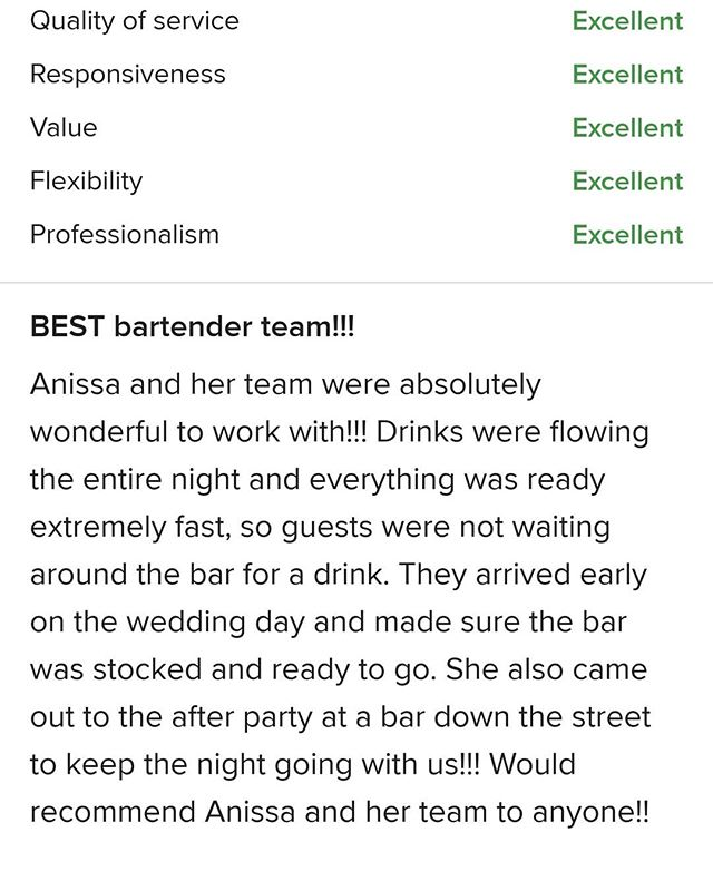 I think this speaks for itself! Thank you Erica! It was our pleasure to be a part of your big day! ⭐⭐⭐⭐⭐ #teambottlesandice @hannahbelleslo Erica and Tim's wedding 💕