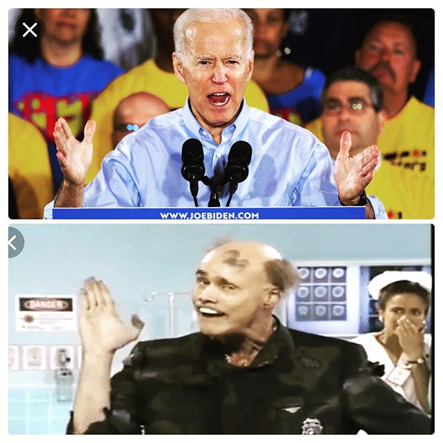I really hope Dems beat Trump, but this is who I think of everytime I see Biden. (It's Fire Marshall Bill played by Jim Carrey)