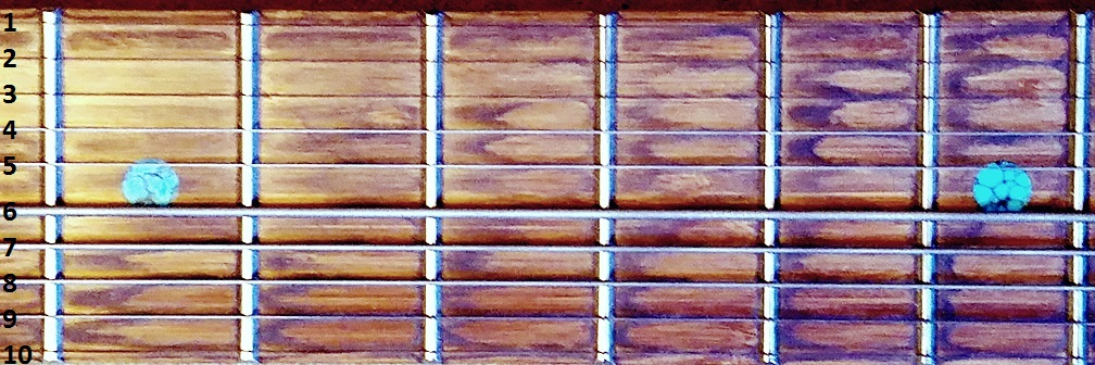 A single quadrant of the Stick's fretboard