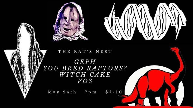Our next Boston show, playing with our pals the immortal @youbredraptors at the Rat's Nest on May 24th.  Hit us up for more details! . . . . . #geph #jazzmetal #chapmanstick #progmetal #prog #djent #ybr #youbredraptors #ratsnest #bostonmusic