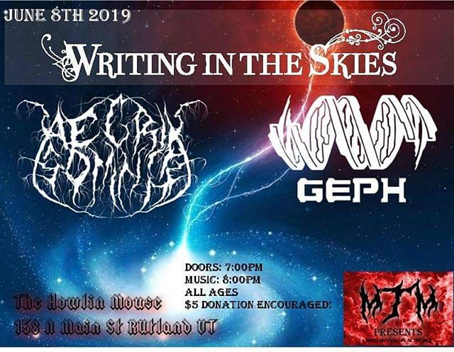 Next up we're in Vermont for the first time with our pals @writingintheskies . . . . . . . #geph #jazzmetal #chapmanstick #progmetal #prog #newmusic #taptheory #tapping #extendedrange #metal #shred