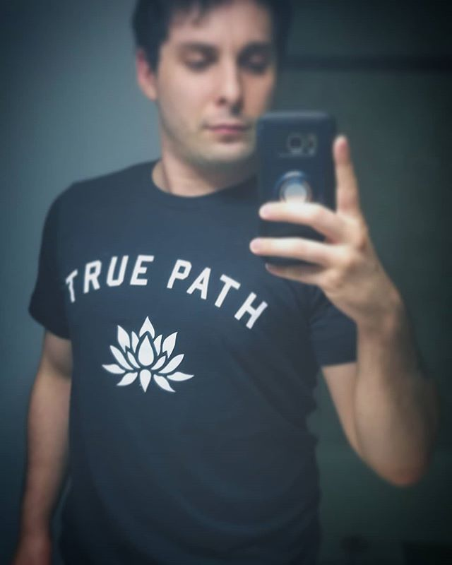 Psyched to rep my dudes in @truepathgrappling.  They're taking the idea that a well practiced life is a peaceful one and bringing it to those who need it most, one arm bar at a time.