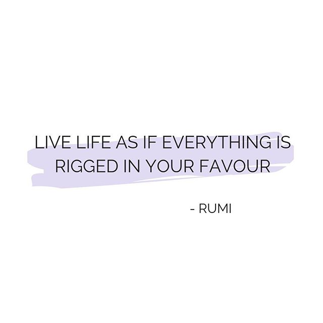 Through dips in life it can feel as if everything is against you. But like most things whatever you tell yourself, you live. Flip your mindset and live as if everything is rigged in your favour 🎖🙌💫 #rumi #quoteoftheday #powerofpositivity