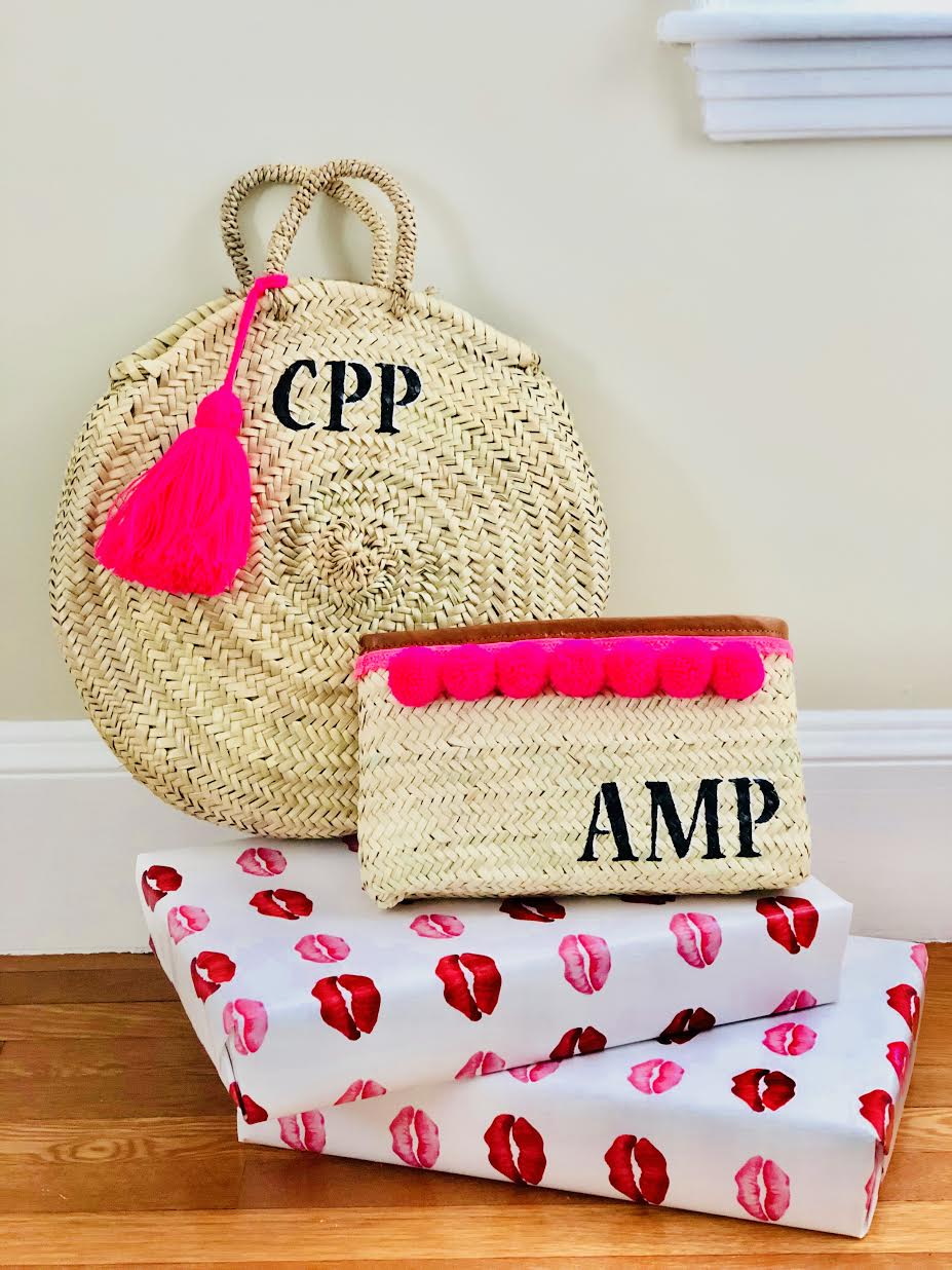 interested in a tote, circle beach bag or clutch?dm @mrs.instaturnz - *tassels always included on totes + circle bags, pom poms upon request on clutches :)