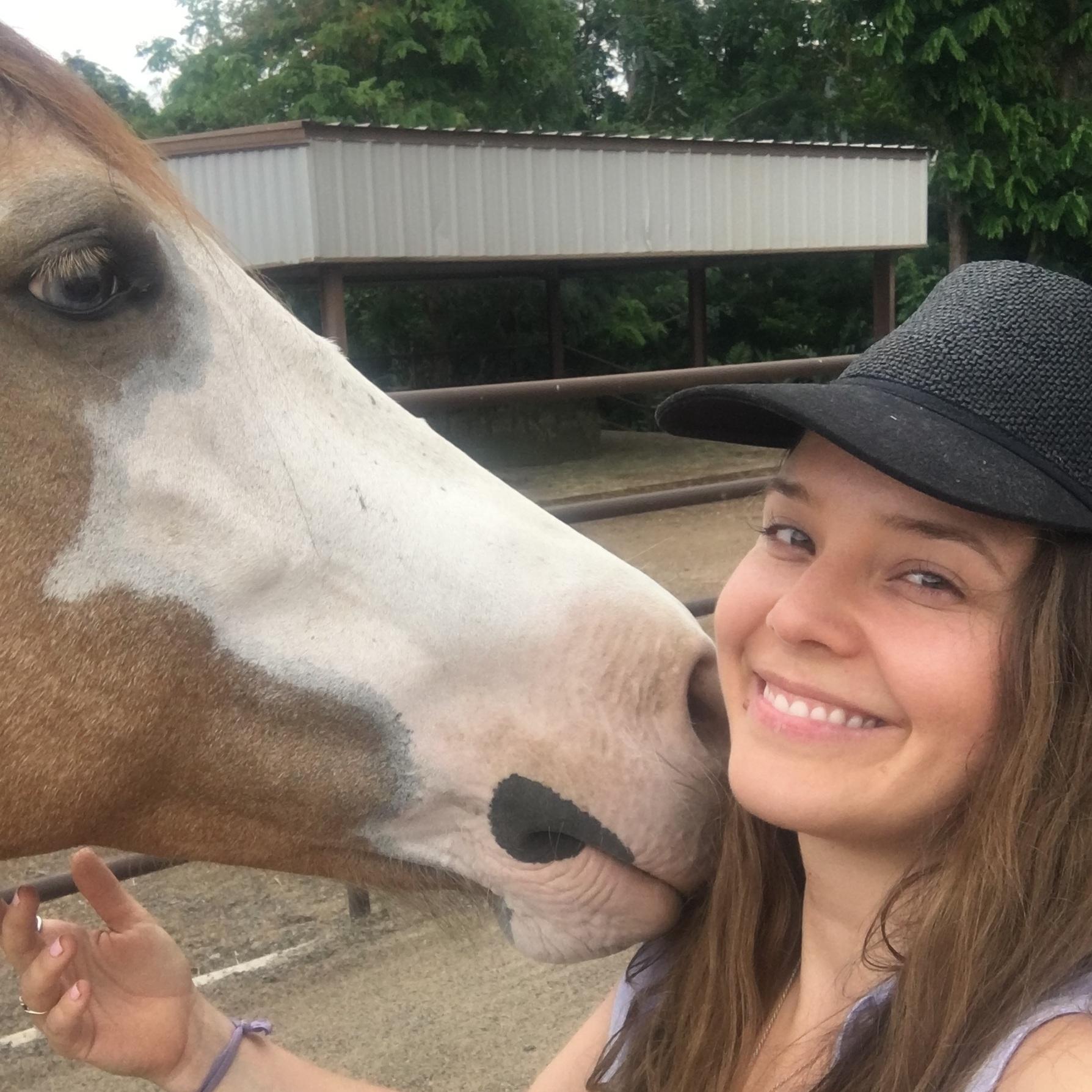 Visiting Horses at the Ranch