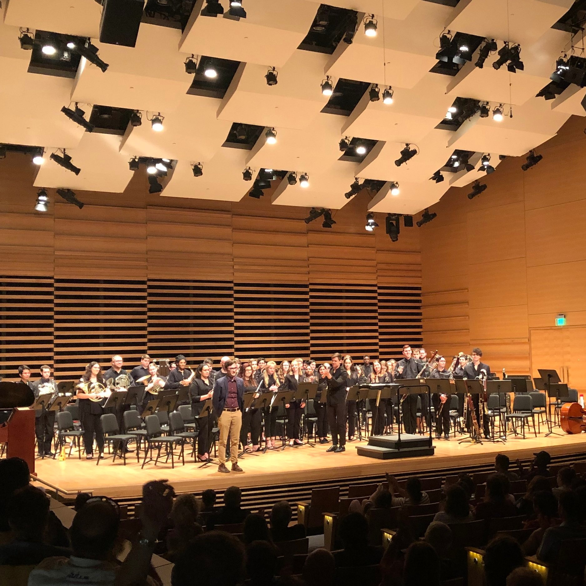 Kyle, Dr. Marc Sosnowchik, and the USF Symphonic Winds (April 18, 2019)