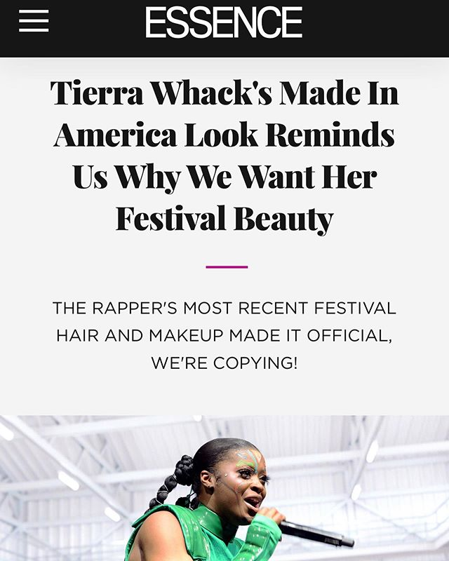Shoutout to @essence for showing soo much love on @tierrawhack 's ICONIC BEAUTY LOOKS 💕 Working with these two women is such a blessing! Laaaddiessss! #girlpower #BLACKGIRLMAGIC 💥#tierrawhack #whackworld #trendsetter #innovator #beauty #essence #essencemagazine #beautyfeature #visageofgrace #jamilahcurryhair